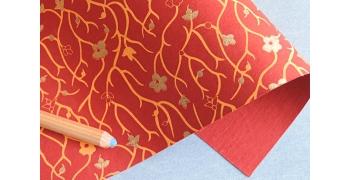 Papier indien cerisiers rouge