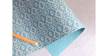 Papier indien kilim bleu