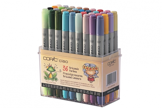 Set de 36 feutres Copic Ciao Couleurs vives.