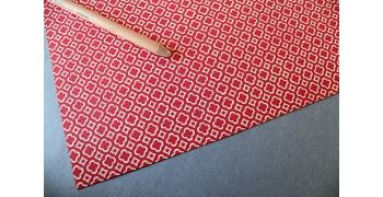 Papier florentin - carreaux & trèfles rouges