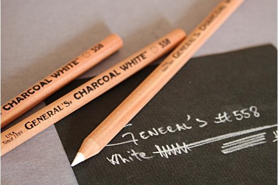 Crayon fusain Blanc General's® 558