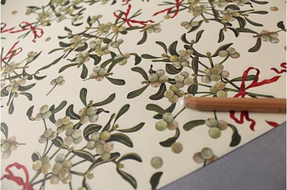 Papier florentin Rossi1931© - Feuilles de gui