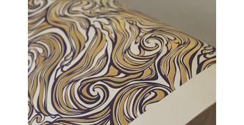 Papier marbré Rossi1931© - marbrures sur letterpress