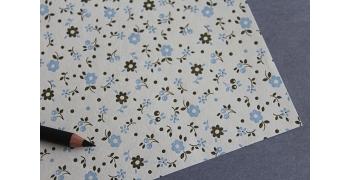 Papier italien embossé 110g/m2 Rossi1931© - Fleurs de jardin