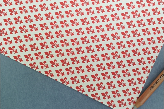 Papier décoratif Rossi1931© - Lys rouge