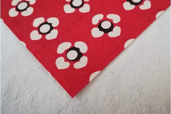 KATAZOME Potentilles rouges format A4