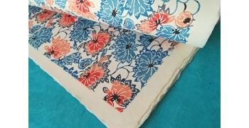 KATAZOME shi 65g/m2 Fleurs de lotus Bleu