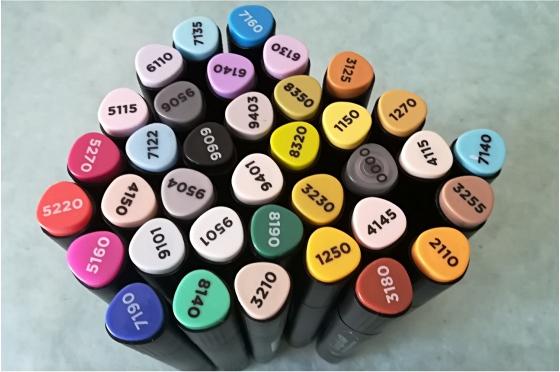Graph'it set 36 marqueurs à alcool - Basic colors
