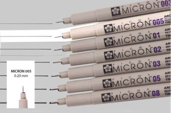 Pigma micron 005 noir