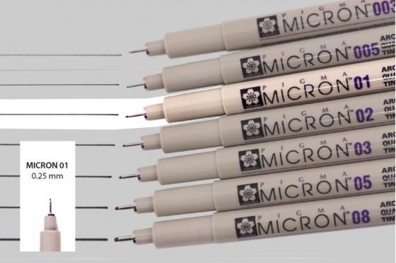 Pigma micron 01 noir
