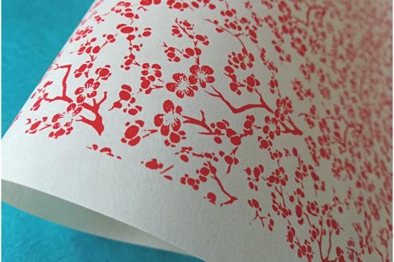CHIYOGAMI 70g/m2 fleurs de cerisiers Chiyogami