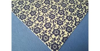 Papier florentin - fleurs bleues