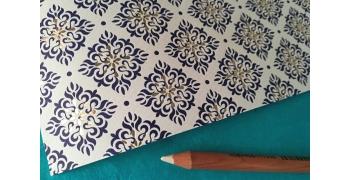 Papier italien embossé 110g/m2 Rossi1931© - Snowflakes