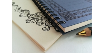 """Notebook A5 et Notepad A6 """"old Style"""" à spirales"""