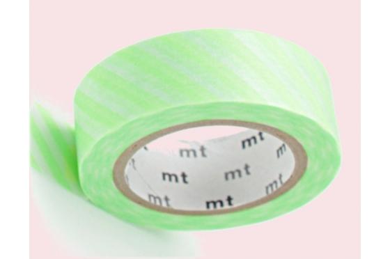 masking-tape deco© rayé vert FLUO