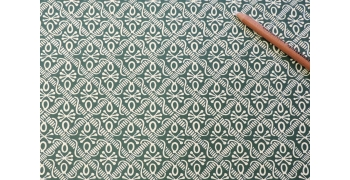 Papier florentin - pieuvres vert