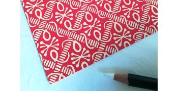 Papier florentin - pieuvres coloris rouge