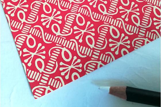 Papier florentin - Pieuvres rouges