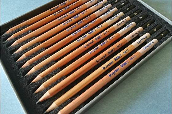 12 Crayons Bruynzeel Design® graphite