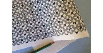 KATAZOME shi 65g/m2  Fleurs gris