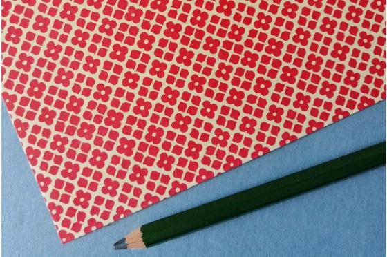 Papier florentin - Jardin Versailles rouge