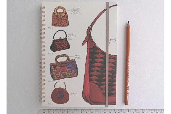 Notebook A5 Sacs papier letterpress