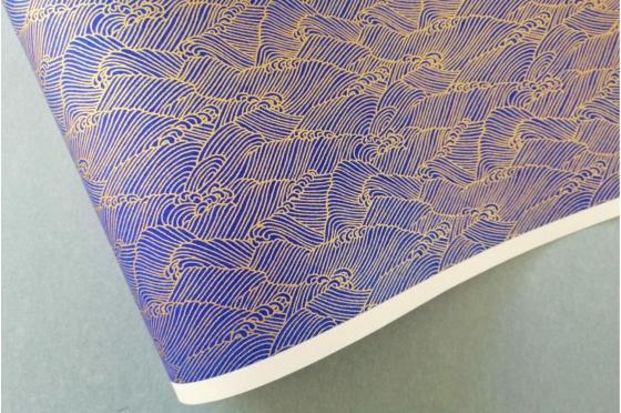 CHIYOGAMI 70g/m2 les vagues bleues