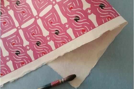 KATAZOME shi 65g/m2 Torsades rose framboise