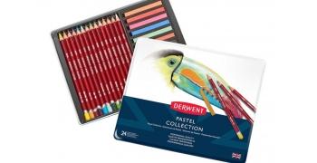 24 crayons et batons pastel Collection Derwent®