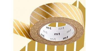Masking tape rayé doré